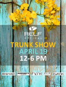 Trunk show is April 19th, 2019.