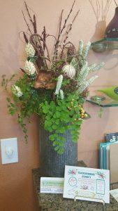 A flower arrangement.