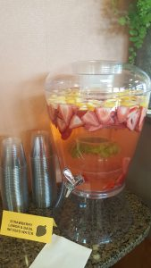 lemon strawberry infused water