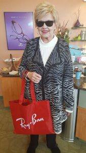 Another trunk show winner rocking her Ray-Ban bag.