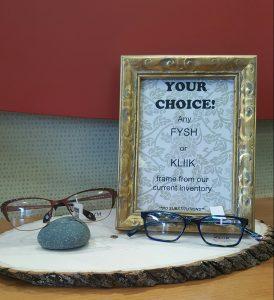 FYSH orKLIIK eyeglasses in stock.